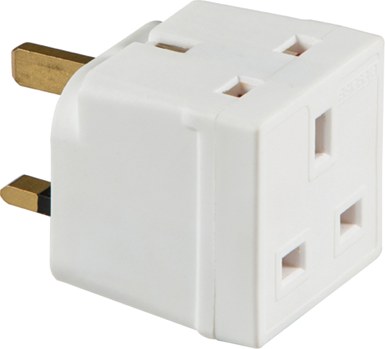 13A 2-Way Mains Unfused Adaptor