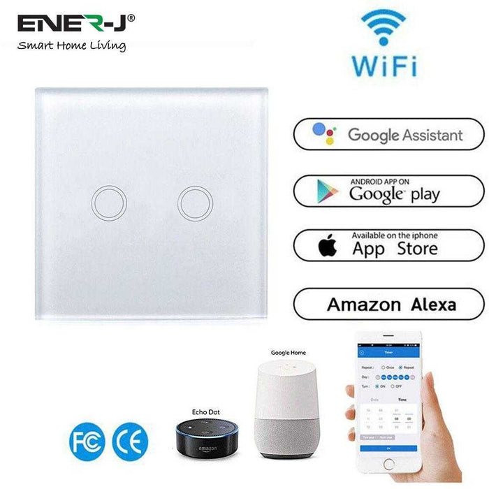 Ener-J 2 Gang Smart WiFi Wall Switch