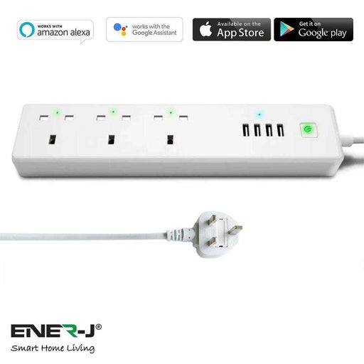 Ener-J WiFi Smart Power Strip Extension Box With USB