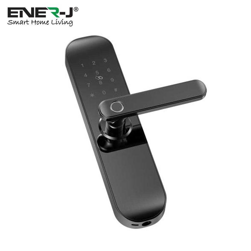 Ener-J Smart Wi-Fi Intelligent Door Lock Black Body Right Handle