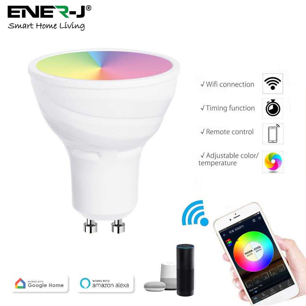 Ener-J WiFi GU10 Smart Light Bulb RGB+W+WW