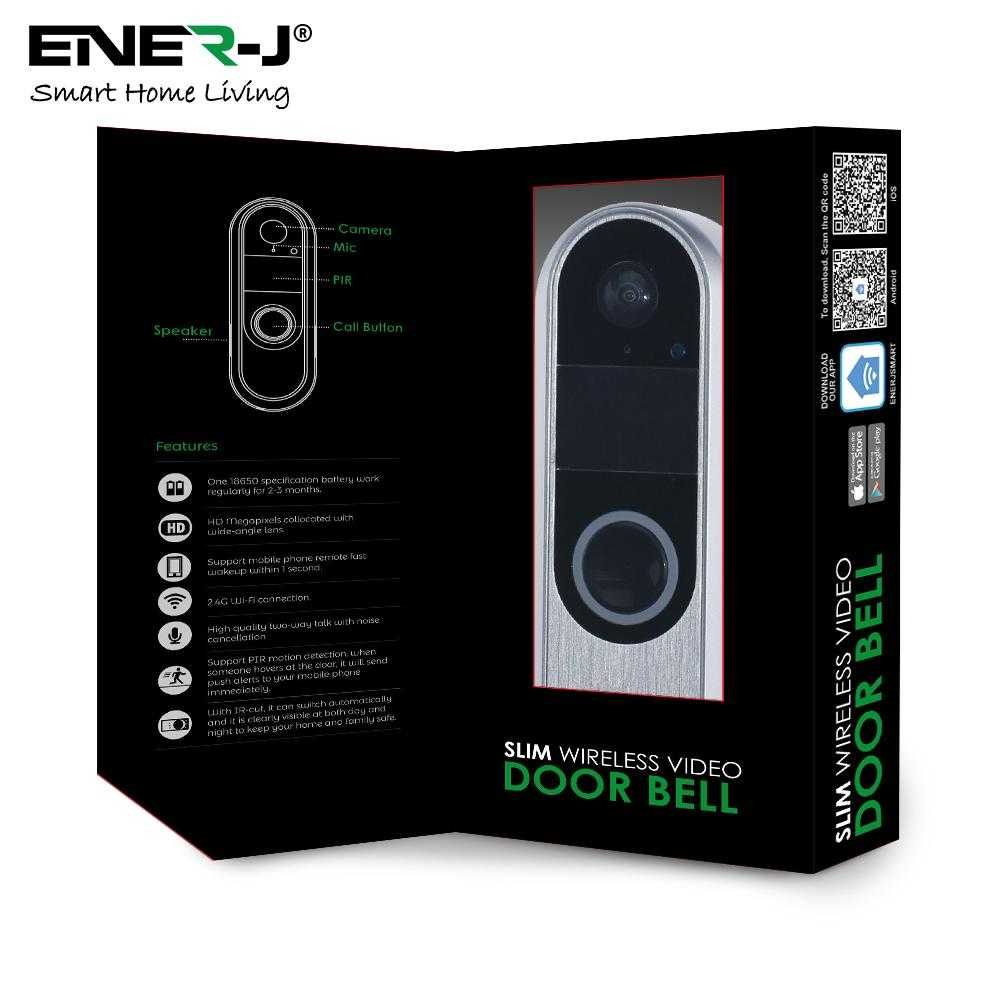 ENER-J Premium Slim Wireless Video Doorbell