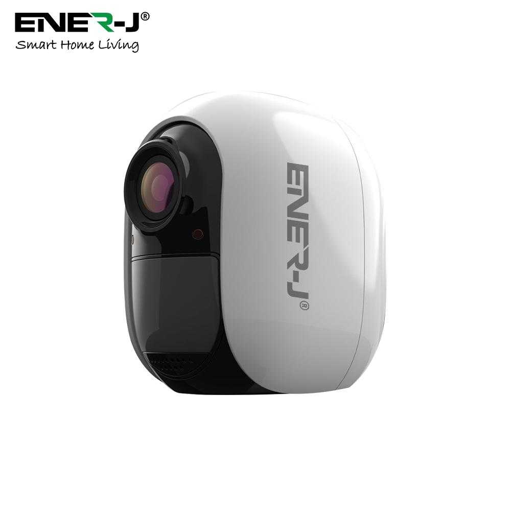 Ener-J Smart WiFi Battery IP Camera 1080P With 4 Pcs AA Battery