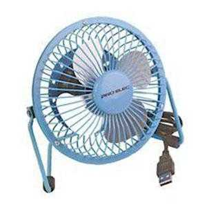 "Blue 4"" Mini USB Desk Fan"