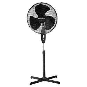 "16"" Oscillating Pedestal Fan, Black"