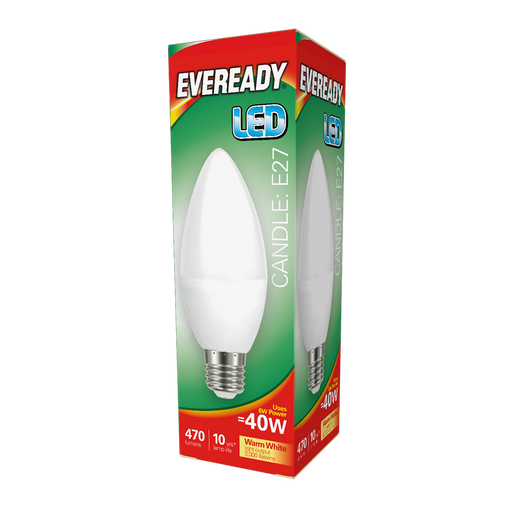 Eveready 6W Led Candle 480Lm Opal E14 Daylight Boxed S13617