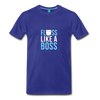 Image of Buy Floss Dance Floss Like A Boss T-Shirt: Shop top fashion brands - royal blue