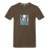 Image of Buy Floss Dance Floss Like A Boss T-Shirt: Shop top fashion brands - noble brown