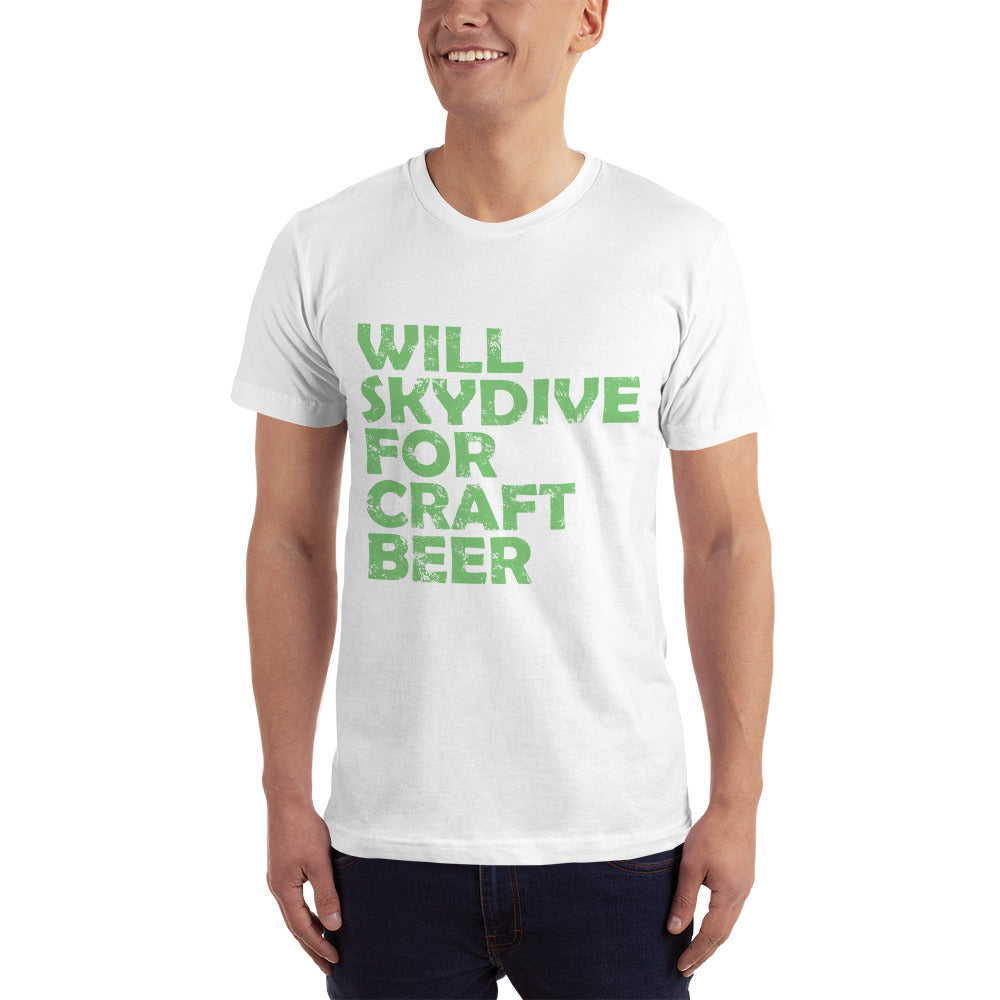 Will Skydiver for Craft Beer T-Shirt