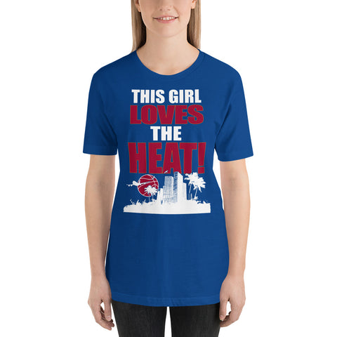 Girl Loves the Heat - Basketball Fan T-Shirt