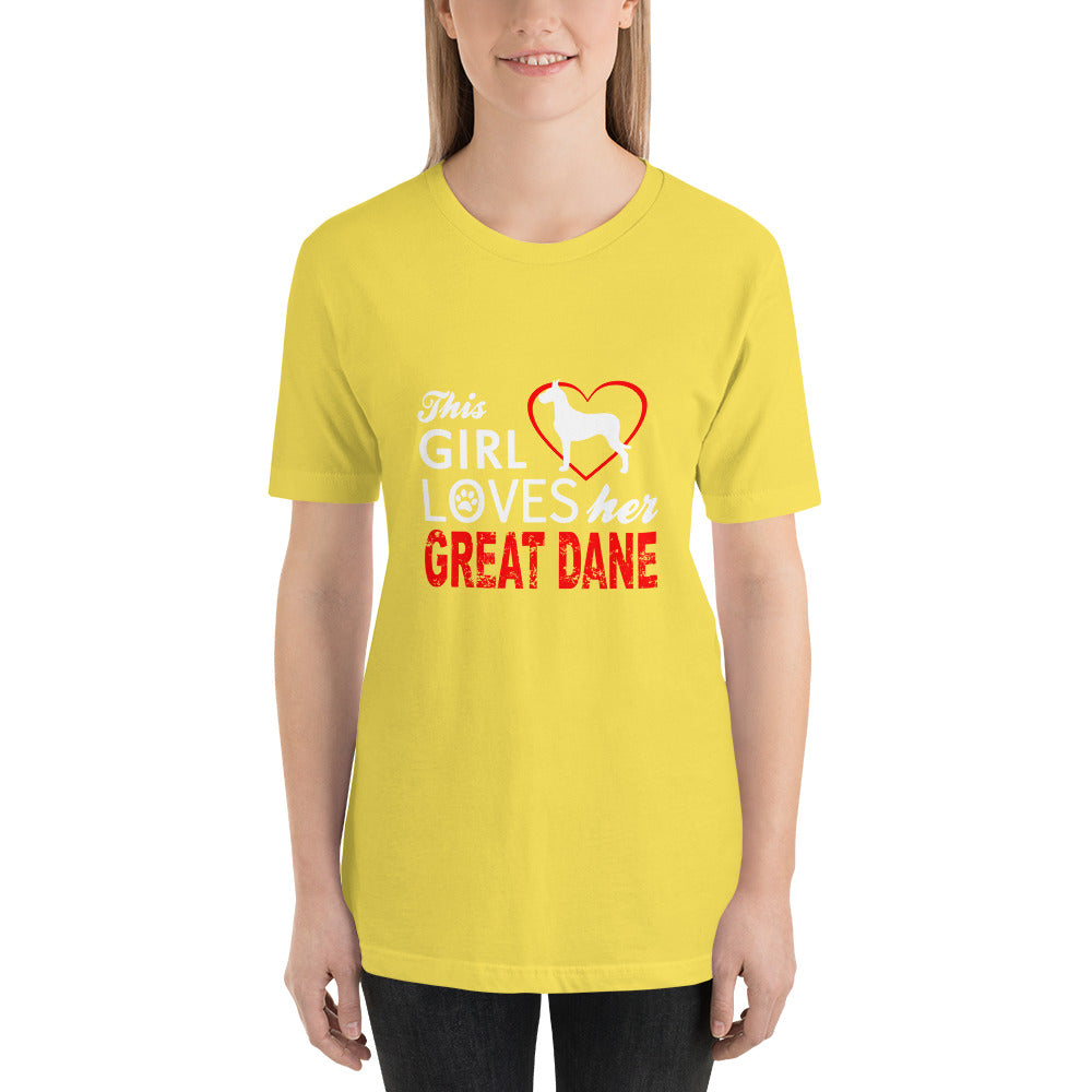 Girl Loves her Great Dane - Dogs Lover T-Shirt