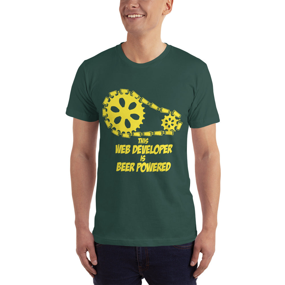 This Web Developer is Beer Powered - Profession T-Shirt