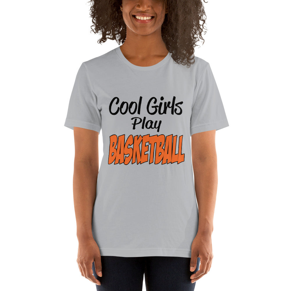 Cool Girls Play Basketball -Basketball Fan T-Shirt