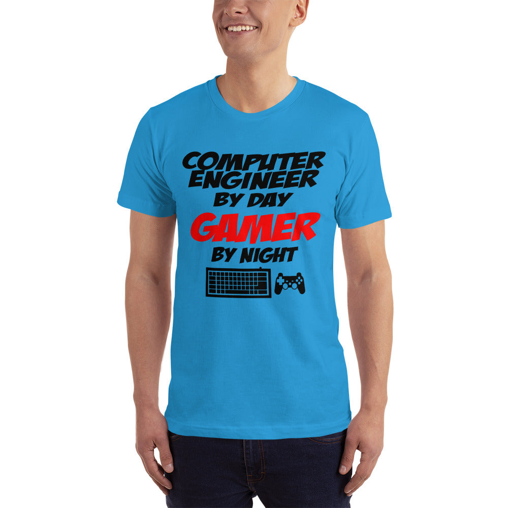 Computer Engineer by Day Gamer by Night - Profession T-Shirt