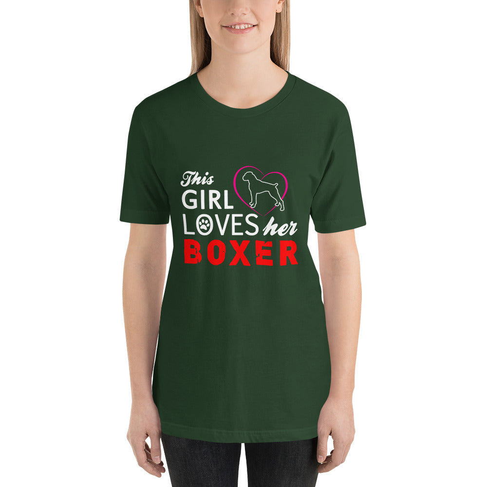 Girl Loves her BOXER - Dogs Lover T-Shirt