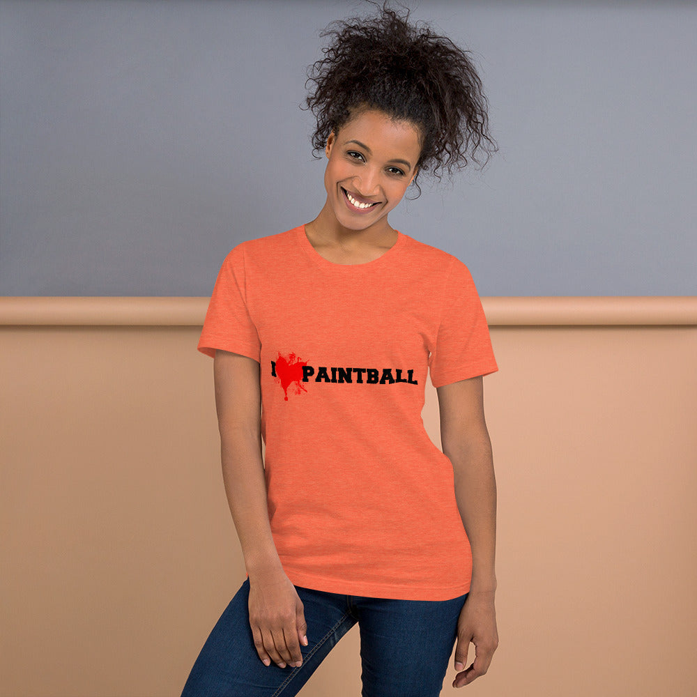 I Love Paintball - Short-Sleeve Special Unisex T-Shirt