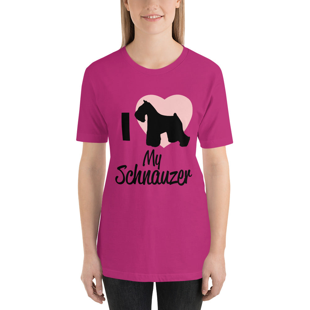 I Love my Schnauzer - Dogs Lover T-Shirt