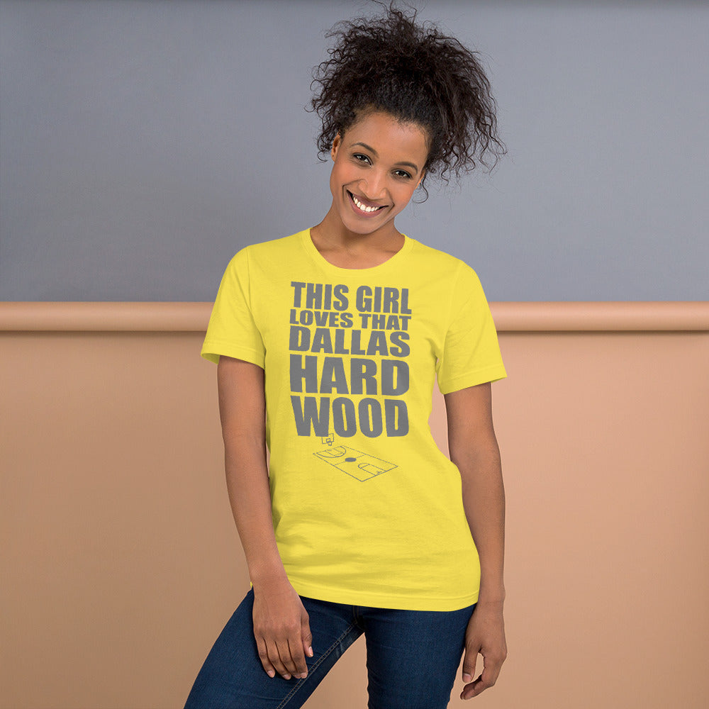 Girl Loves Dallas Hard Wood - Short Sleeve Unisex T-Shirt