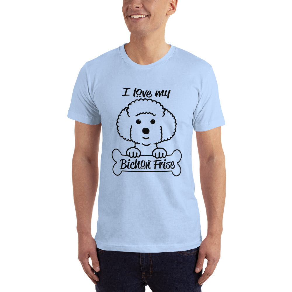 Love my Bichon Frise - Dogs Lover T-Shirt