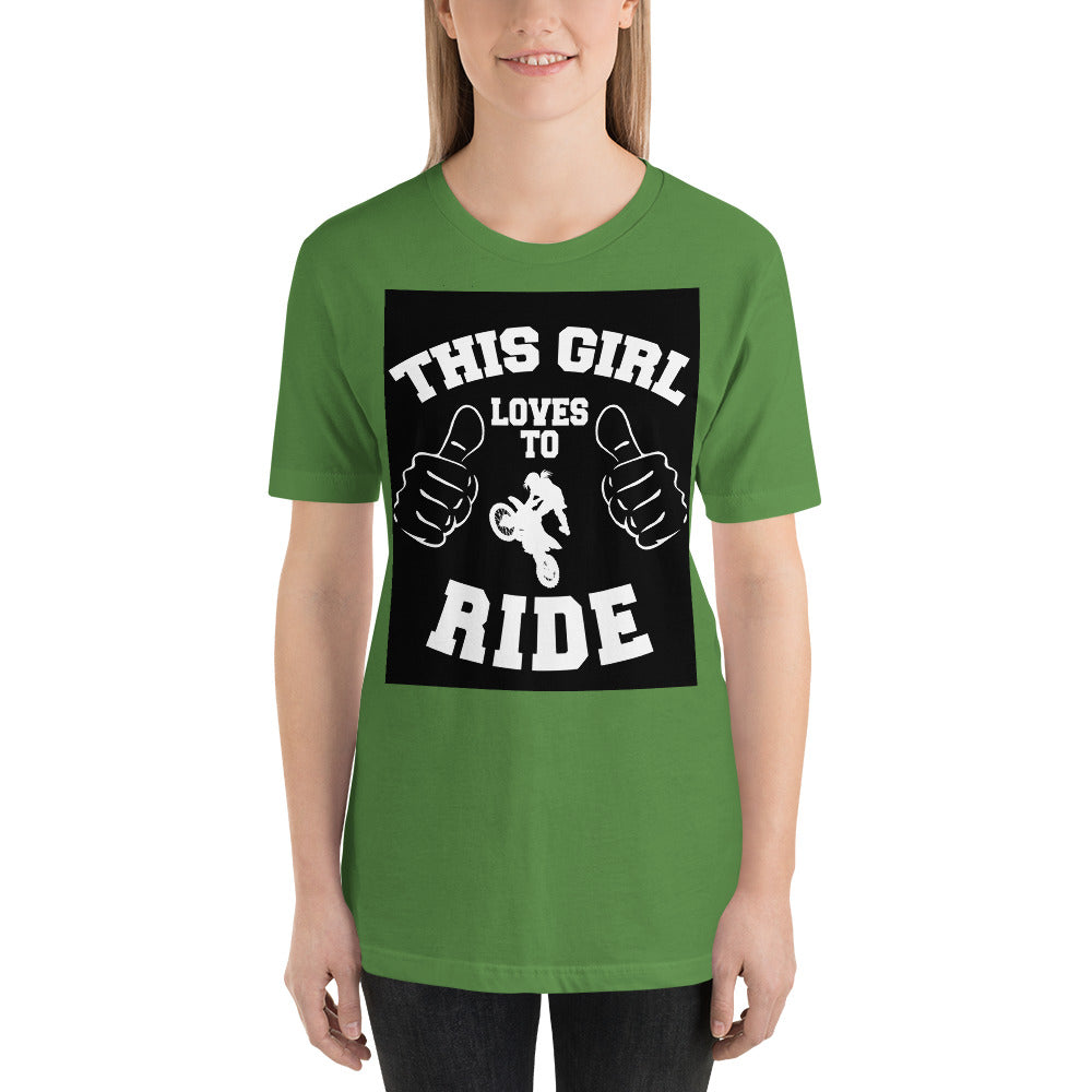 This Girl Loves to Ride - Short Sleeve Unisex T-Shirt