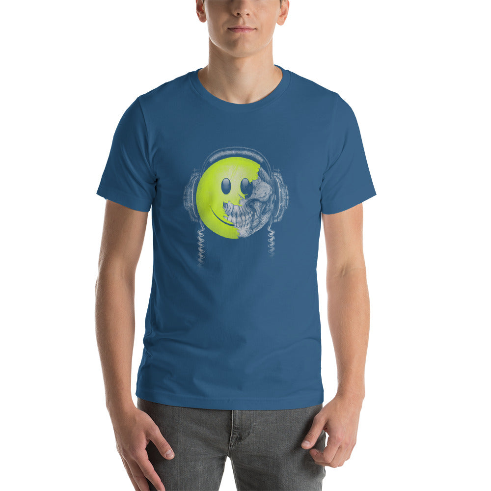 Headphones Listen To Music & Smile Short-Sleeve Unisex T-Shirt