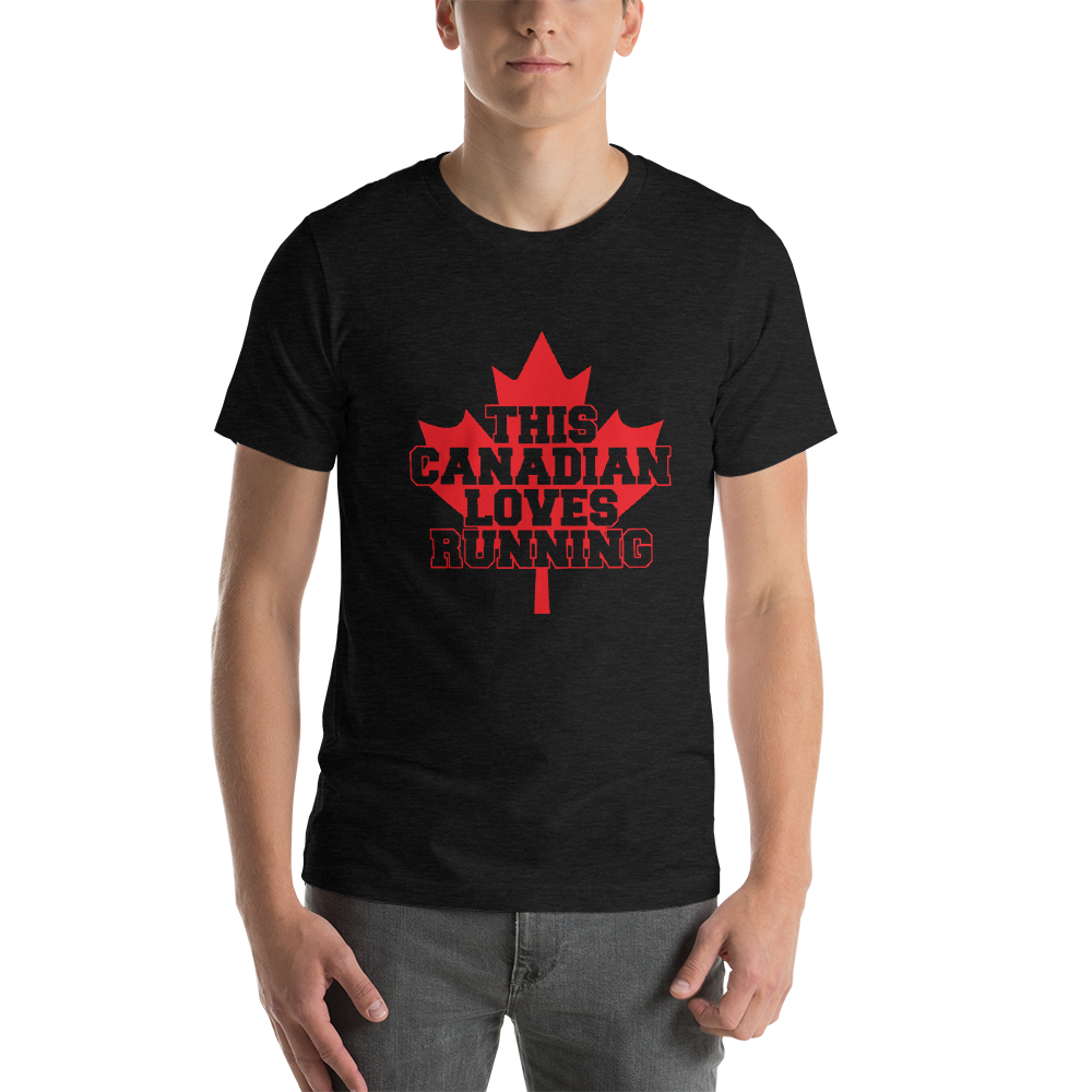 This Canadian Loves Running Short-Sleeve Unisex T-Shirt