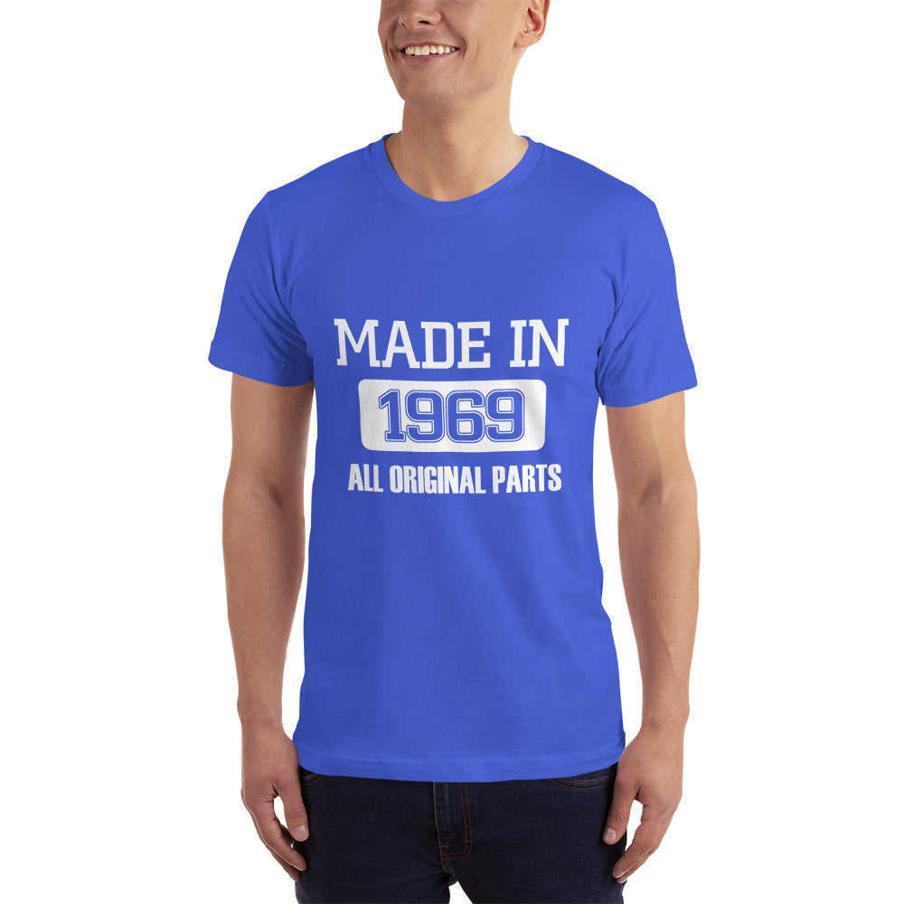 Made in 1969 All Original Parts Half Sleeve T-Shirt