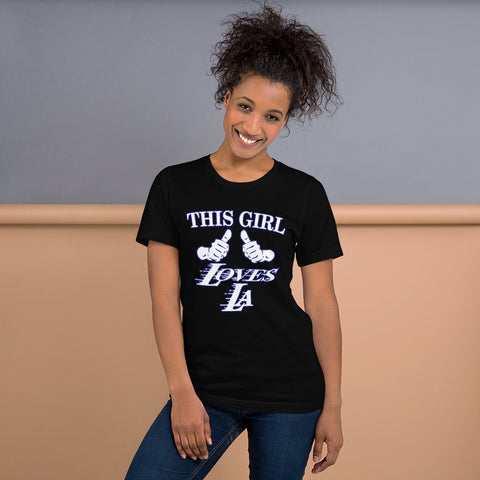 This Girl Loves Los Angeles - Los Angeles Location Lover T-Shirt