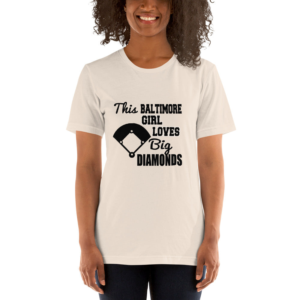 Girl Loves Big Diamond - Baseball Fan T-Shirt