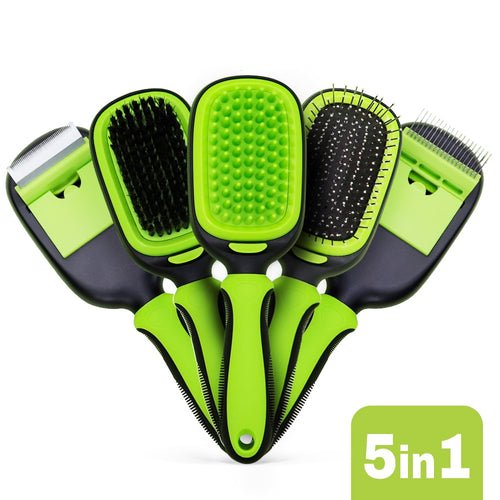 5 in 1 Pet Grooming Brush Set