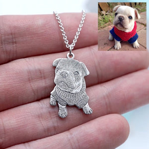 🐾 Personalized Pet Necklace & Keychain