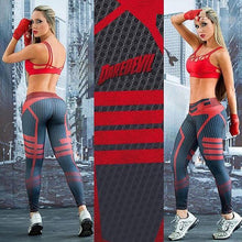 Load image into Gallery viewer, Women Sport Leggings 3D Print Football Capris Running Active Sportwear High Waist Pant Sexy Slim Hip Fitness Jogger Gym Jeggings