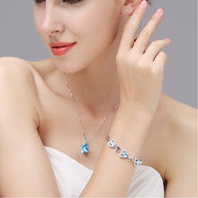 Load image into Gallery viewer, Crystal Heart Pendant Necklace Chain For Women