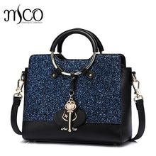 Load image into Gallery viewer, Luxury Glitter Sapphire Blue handbag