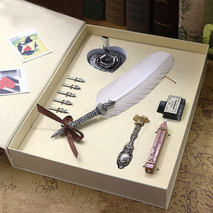 Harry Potter Exquisite Gift Box With Five Nibs, Stand, Stamp, Wax, ink Bottle