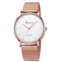 Load image into Gallery viewer, GENEVA Womens Classic Quartz Stainless Steel Wrist Watch Bracelet Watches