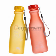 Load image into Gallery viewer, Candy Colors Unbreakable Frosted Leak-proof Plastic kettle 550mL BPA Free Portable Water Bottle for Travel Yoga Running Camping