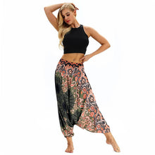 Load image into Gallery viewer, NEW Women Casual Loose Yoga Pants Trousers Baggy Boho Aladdin Jumpsuit Harem Pants High Waist sport pants
