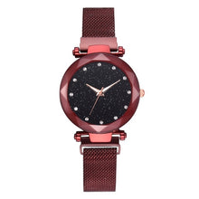 Load image into Gallery viewer, Luxury Women Watches Ladies Magnetic Starry Sky Clock Fashion Diamond Female Quartz Wristwatches relogio feminino zegarek damski