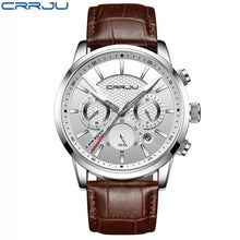 Load image into Gallery viewer, CRRJU's Luxury Leather Men's Watch