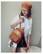 Load image into Gallery viewer, Mochilas Mujer Luxury Design Leather Bag