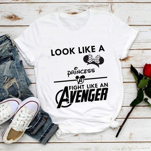 Look Like A Princess Fight Like An Avenger T shirt