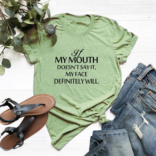 MY MOUTH DOESN'T SAY Women T-Shirt