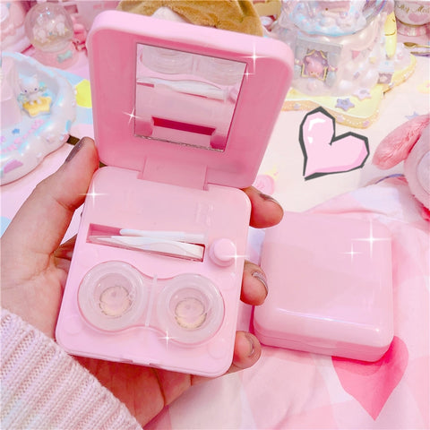 Romantic Pink Auto Cleaning Lens Case
