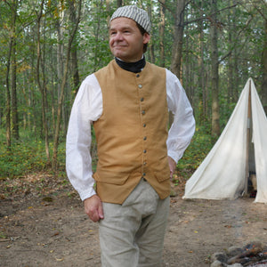 1770's Waistcoat in Cotton Canvas   SW-130
