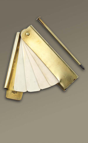 Brass and Ivory Pocket Notebook   BP-966