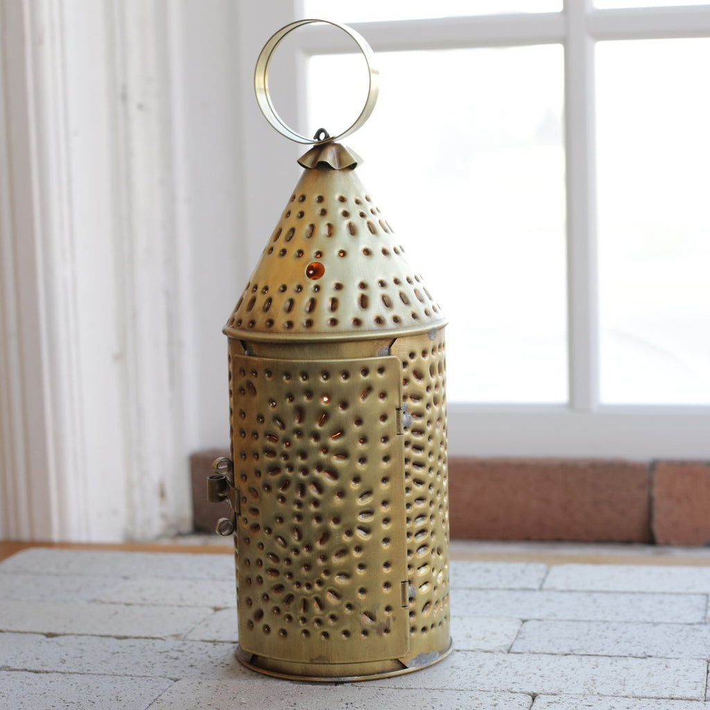 Medium Pierced Brass Lanterns