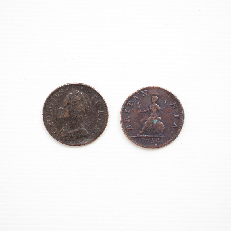 1754 George II Farthing  CO-543