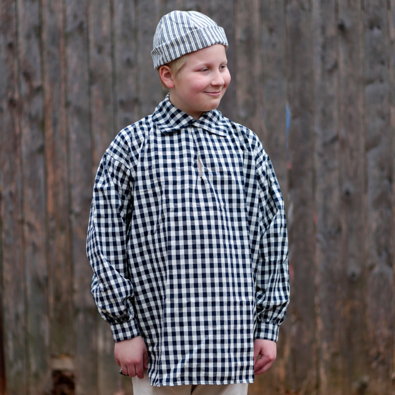 Boys' Workshirt Blue Checked  CK-224