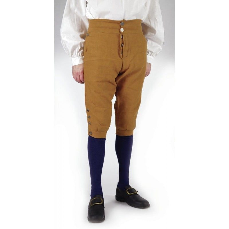 Fly Front Knee Breeches - Cotton Canvas